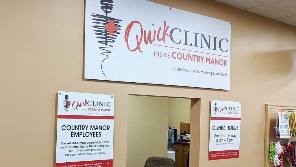 quick clinic sign