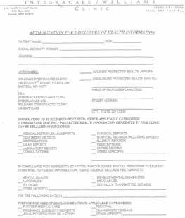 Outgoing Patient Form