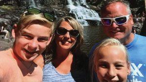 Heidi and Family Hiking