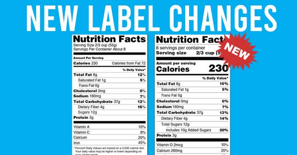 Nutrition fact label changes