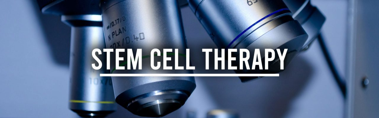 stem cells therapy banner