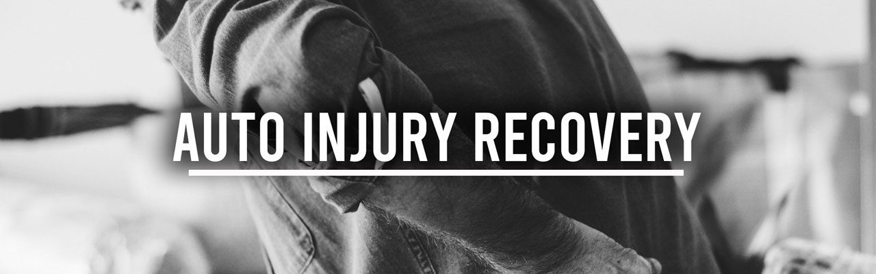 auto injury recovery banner